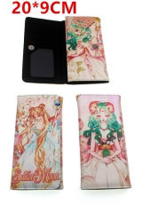 Pretty Soldier Sailor Moon Cosplay Japanese Cartoon Anime PU Leather Long Wallet