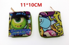 Monsters University Anime Zipper PU Leather Wallet
