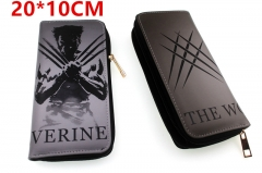 Marvel Comic The Avengers Wolverine Movie PU Leather Zipper Wallet