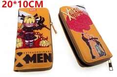 Marvel Comic The Avengers X-men Movie PU Leather Zipper Wallet