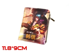 Glory of the King Game HanXin PU Leather Anime Wallet and Purse