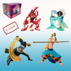 Japanese Cartoon One Piece Anime Luffy +Enel+Sir Crocodile+Kuzan Anime Manga PVC Figure Set