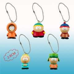 5 Styles South Park Anime keychain Vinyl Figure Keyrings ( set)