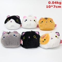 Neko Atsume Cosplay Cute Cartoon Doll Anime Plush Toy Pendant (6pcs/set)