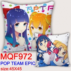 POP Team Epic Cartoon Cosplay Two Sides Print Long Style Soft Pillow Wholesale Comfortable Good Quality Anime Pillow 45*45CM