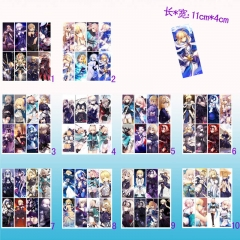 Fate Stay Night Cosplay Cartoon Decoration For Book Anime Bookmarks (8pcs/set)
