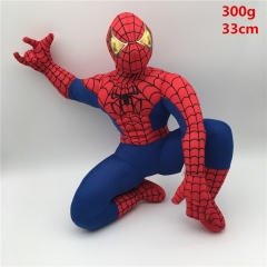 Marvel Spider Man Cartoon Anime Plush Stuffed Toy Video Game Accessories  33cm 300g