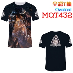 Overlord Cosplay 3D Print Anime T Shirts Anime Short Sleeves T Shirts