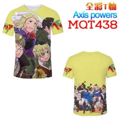 Axis Powers Hetalia Cosplay Print Anime T Shirts Anime Short Sleeves T Shirts