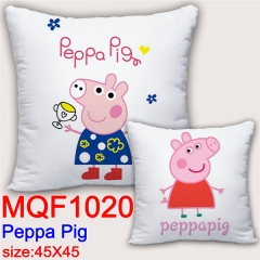 Peppa Pig Cartoon Cosplay Two Sides Print Soft Pillow Wholesale Comfortable Anime Pillow 45*45CM