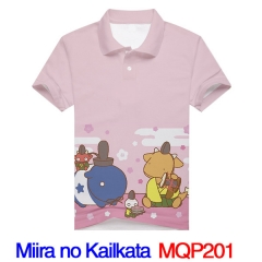 Miira no Kaikata How to Keep a Mummy Cosplay Print Fashion Anime Shirts Anime Short Sleeves Polo Shirts