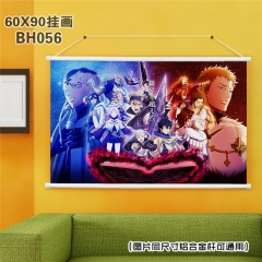 Japanese Cartoon Painting Black Clover Anime Poster Fancy Wall Scrolls