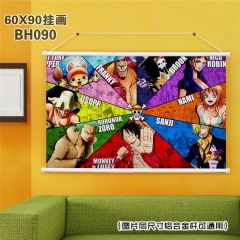 One Piece Cartoon Painting Anime Poster Fancy Wall Scrolls