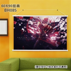 Japan One Punch Man Cartoon Painting Anime Poster Fancy Wall Scrolls