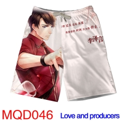Love and Producers Game Short Pants Cosplay Fashion Beach Anime Pants S-4XL