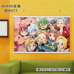 The Seven Deadly Sins Cartoon Painting Anime Poster Fancy Wall Scrolls