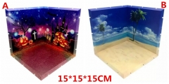 Sailor Moon Anime Background Scenes Display Base Halloween Style / Beach Style