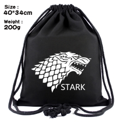 Game of Thrones Fashion Anime Print Canvas Drawstring Pocket Bag