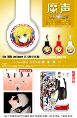Fate Extra Last Encore Cosplay Cartoon 3.5mm Plug with Microphone Anime Headphone