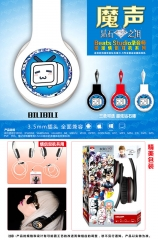 Bilibili Cosplay Cartoon 3.5mm Plug with Microphone Anime Headphone