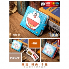 Doraemon Cosplay Cartoon High Quality PU Purse Anime Folding Wallet 10*12cm
