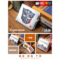 Transformers: The Last Knight Cosplay Movie High Quality PU Purse Anime Folding Wallet 10*12cm