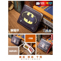 Batman Cosplay Movie High Quality PU Purse Anime Folding Wallet 10*12cm