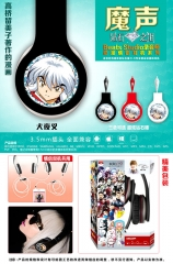 Inuyasha Cosplay Cartoon 3.5mm Plug with Microphone Anime Headphone