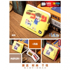 Detective Conan Cosplay Cartoon High Quality PU Purse Anime Folding Wallet 10*12cm