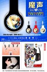 Fate Stay Night Cosplay Cartoon Saber 3.5mm Plug with Microphone Anime Headphone