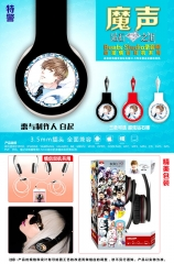 Love and Producers Cosplay Baiqi Cartoon 3.5mm Plug with Microphone Anime Headphone