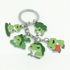 Travel Frog Cosplay Cartoon Decoration Anime Keychain