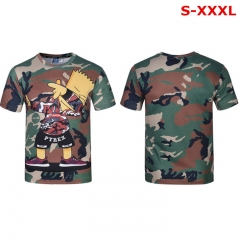 The Simpsons Cosplay Cartoon Unisex Fancy Anime Short Sleeve T shirts