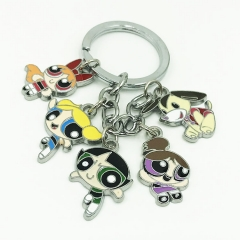 The Powerpuff Girls Cosplay Cartoon Decoration Anime Keychain