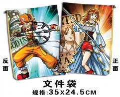 One Piece Cosplay Cartoon For Student Office File Holder Anime File Pocket
