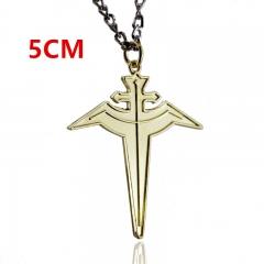Hakkenden Touhou Hakken Ibun Cosplay Cross Fashion Anime Alloy Necklace