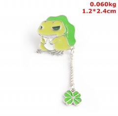 Travel Frog Cosplay Game Decoration Alloy Anime Brooch and Pin