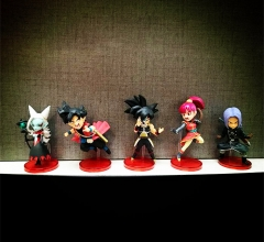 Dragon Ball Super Cosplay Cartoon Collection Model Toy Anime Figure (5pcs/set)