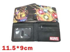 Marvel Comics The Avengers Movie Infinity Gauntlet Marvel Cool Design Purse Folding Short Anime Wallet