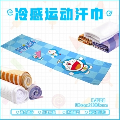 Cartoon Kawaii Doraemon Coolcore Ice Towel Sports GYM Towel