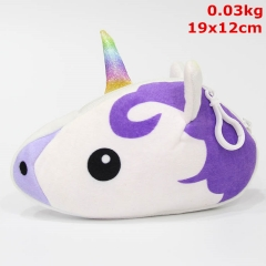Unicorn Cosplay Cartoon Cute Coin Plush Wallet Anime Plush Purse