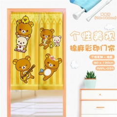 Rilakkuma Cartoon Cute Cotton-Flax Anime Curtain