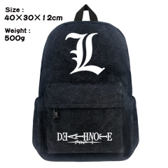 Death Note Cartoon Bag Black Canvas Anime Backpack Bags