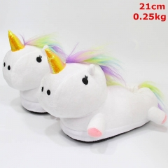 Unicorn Cosplay Cartoon Cute For Kids Anime Plush Slipper