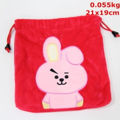 K-POP BTS Bulletproof Boy Scouts Cosplay Korean Star Anime Plush Drawstring Pocket Bag