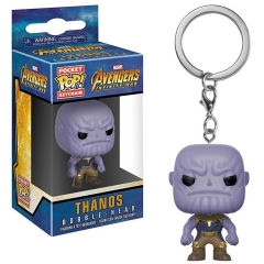 Funko POP Pocket The Avengers Thanos Bobble Head Anime PVC Figure Keychain
