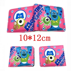 Monsters University Cartoon Folding PU Purse Anime Short Wallet