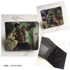 The Avengers Hulk Cosplay Cartoon Frosted Coin Purse Anime Folding Wallet