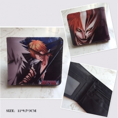 Bleach Cosplay Cartoon Frosted Coin Purse Anime Folding Wallet