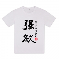 The Seven Deadly Sins White Cartoon Short Sleeve Anime T Shirt